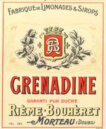 Sirop Rième label: grenadine